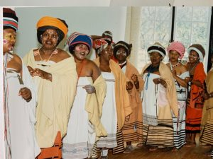 Xhosa ladies of rural SA in traditional attire